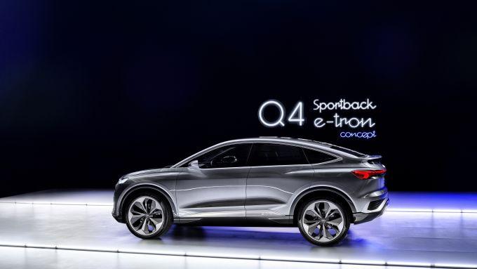 Il SUV compatto elettrico di Audi: Q4 Sportback e-tron concept