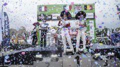 Il team Citroen Sport Racing festeggia sul gradino più alto del podio - WRC 2017, Rally Messico