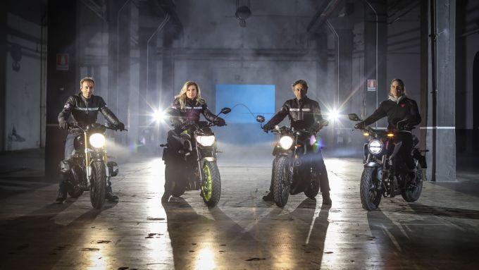 Il team di istruttori di BikerX, presente al Motor Bike Expo di Verona