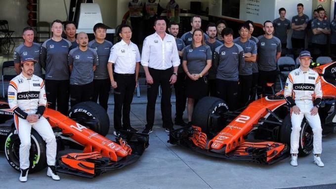 Il team McLaren Honda 2017