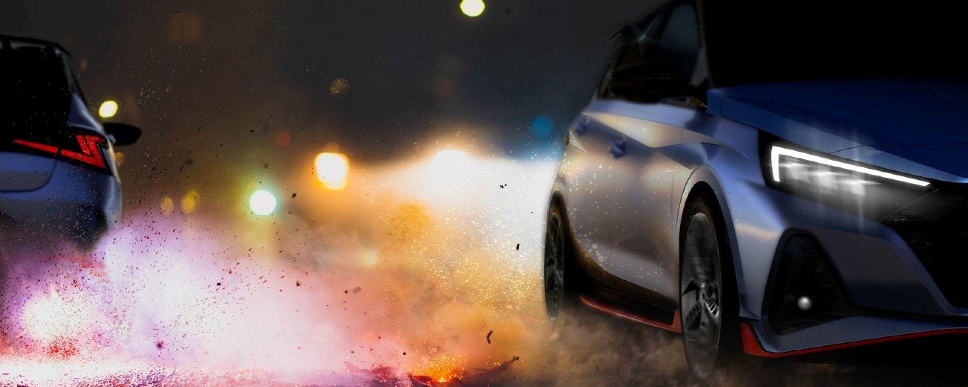 Il teaser di nuova Hyundai i20 N