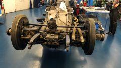 Il telaio della Mercedes T80 che, secondo gli ingegneri, poteva raggiungere i 750 km/h