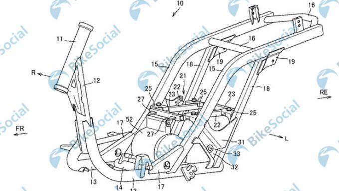 Il telaio dello scooter elettrico di Suzuki