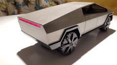 Il Tesla Cybertruck stampato in 3D: particolare del cassone