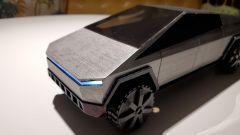 Il Tesla Cybertruck stampato in 3D: visuale di 3/4 anteriore