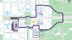 Il tracciato dell'E-Prix di Roma - Formula E