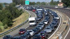 Il traffico intenso in autostrada