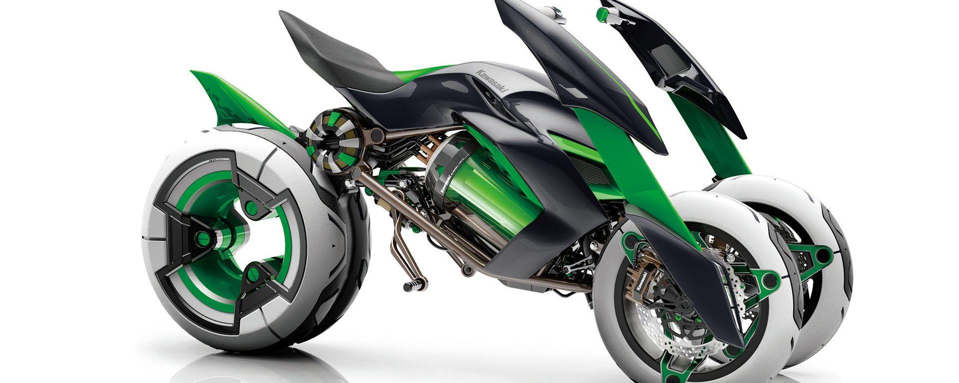 Il tre ruote Kawasaki Concept J presentato nel 2013