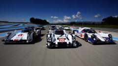 Il trio che animava la serie LMP1 del WEC: Toyota, Audi e Porsche