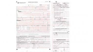 il verbale della multa con cui la Polizia Stradale di Piacenza attesta il ritiro del libretto della mia moto