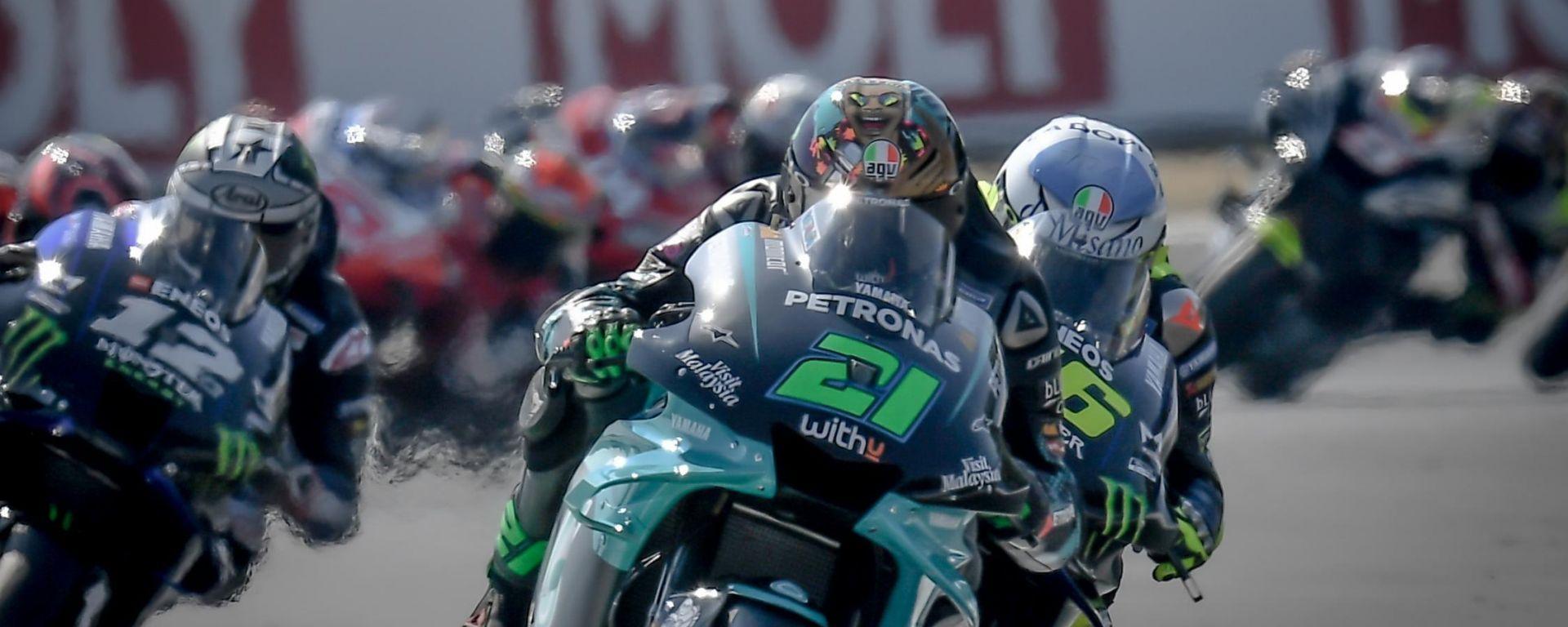 Il via del Gran Premio di San Marino e della Riviera di Rimini 2020 a Misano