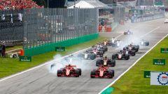 Il via del Gran Premio d'Italia 2018 di Formula 1