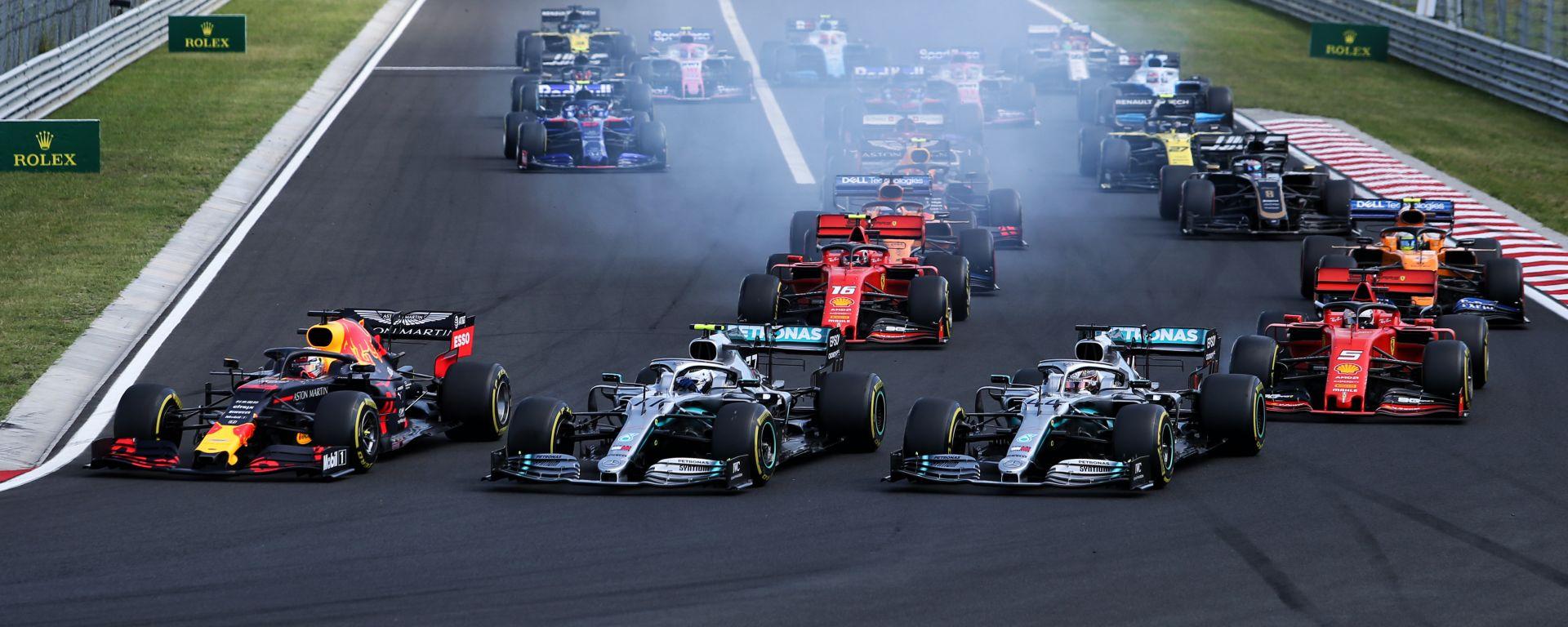 Il via del Gran Premio d'Ungheria 2019