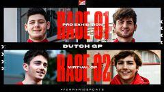 Il VirtualGP Olanda per Ferrari: David Tonizza ed Enzo Bonito nella gara dei pro, poi Charles Leclerc ed Enzo Fittipaldi