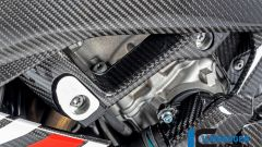 Ilmberger Carbon per BMW S 1000 RR 2019 stradale: dettaglio delle protezioni per il telaio