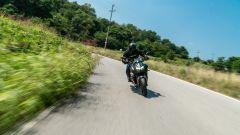 in azione con la Kawasaki ZH2