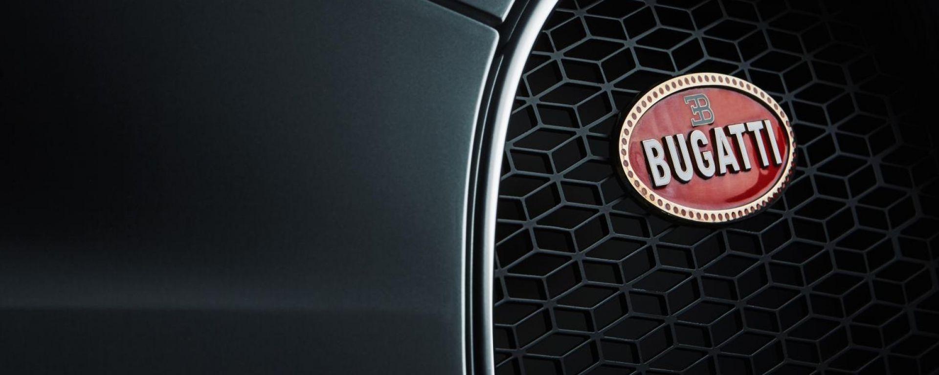 In dettaglio il logo Bugatti