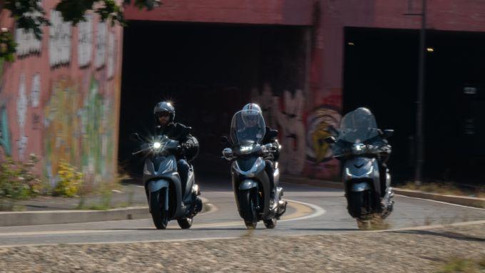 In prova con Kymco People S 300, Honda SH 300i Sport e Sym HD 300