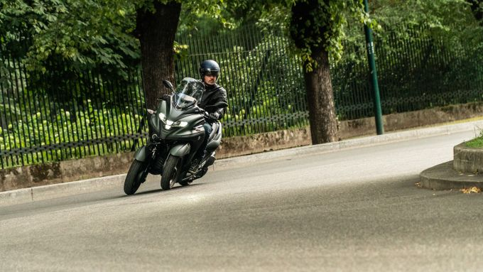In prova con lo Yamaha Tricity 300