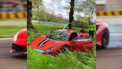 Ferrari 488 Pista: video dell'incidente in Olanda