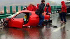 Incidente stradale di una Ferrari