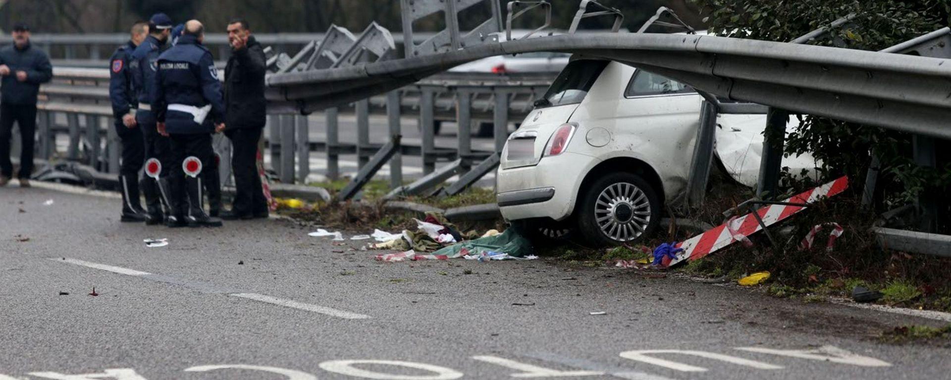 Incidenti stradali, nel 2017 crescono le vittime