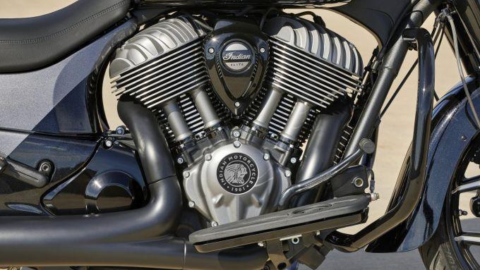 Indian Chieftain Elite 2021: il motore eroga 171 Nm di coppia massima