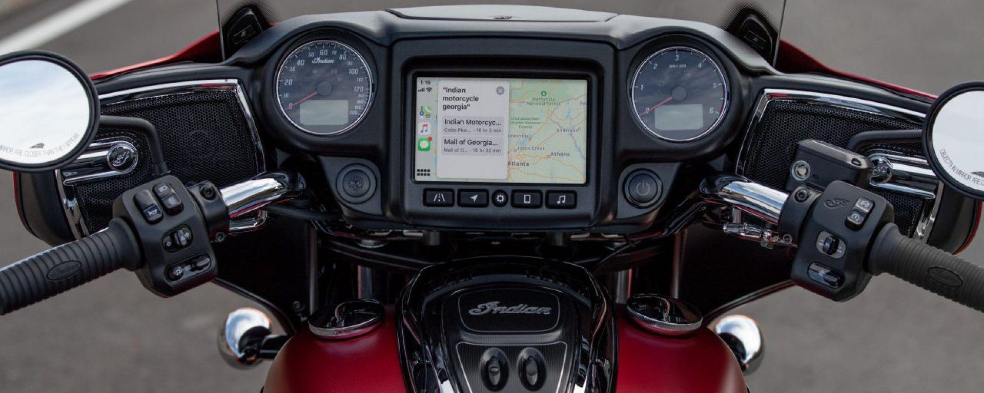 Indian Chieftain, Roadmaster e Challenger 2020 con sistema di navigazione di Apple CarPlay