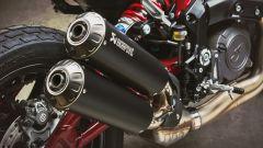 Indian FTR 1200 Carbon, lo scarico Akrapovic