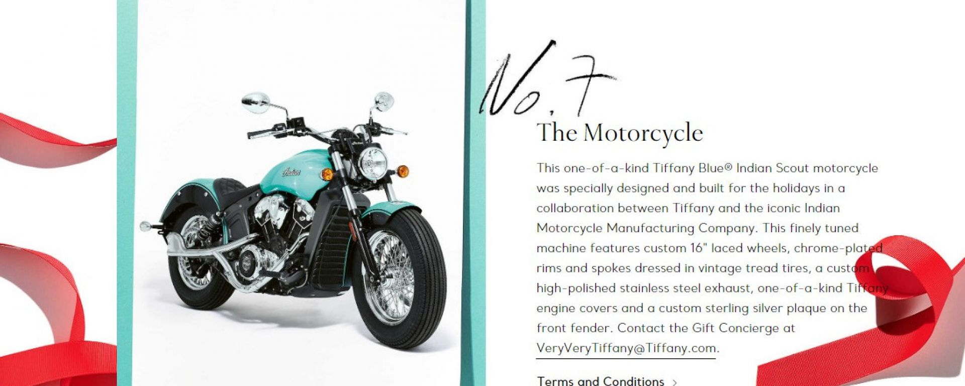 Indian Scout: la moto scelta per la special Tiffany & Co.
