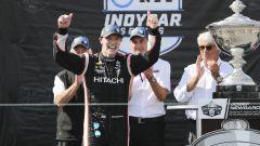 IndyCar 2019, Laguna Seca: Josef Newgarden (Team Penske) festeggia il titolo