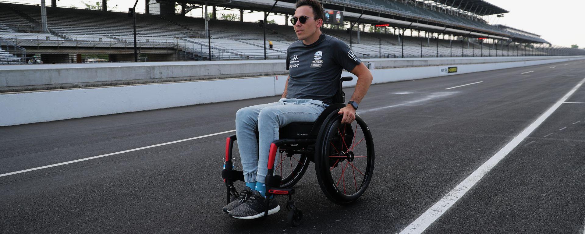 IndyCar, Robert Wickens (McLaren Arrow Schmitd Peterson Motorsport) alla 500 Miglia di Indianapolis