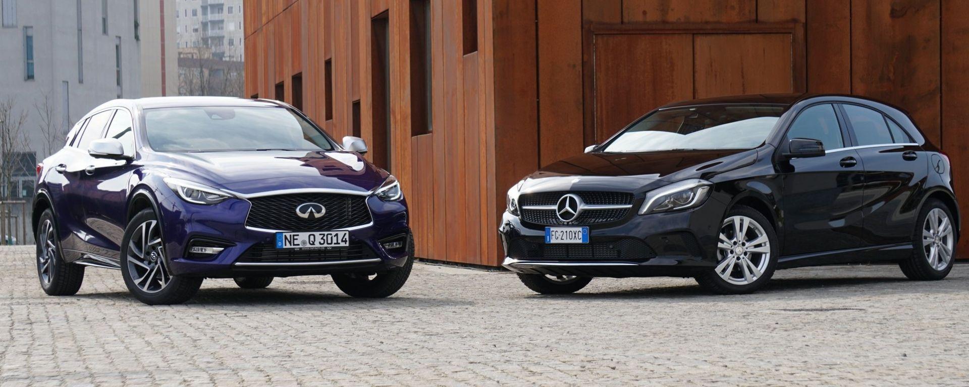 Infiniti Q30 vs Mercedes Classe A: la prova confronto