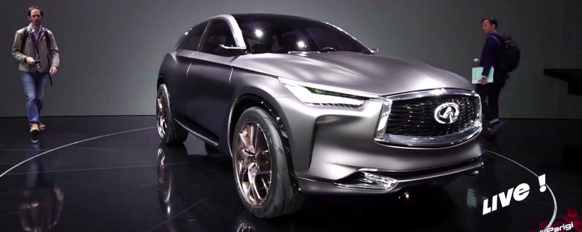 Live Parigi 2016: Infiniti QX Inspiration Concept e motore VC-T in video
