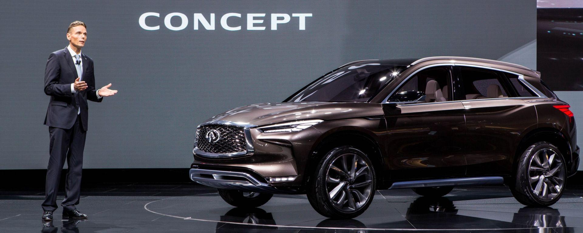 INFINITI QX50 Concept: la nuova crossover mostrata a Detroit il mese scorso