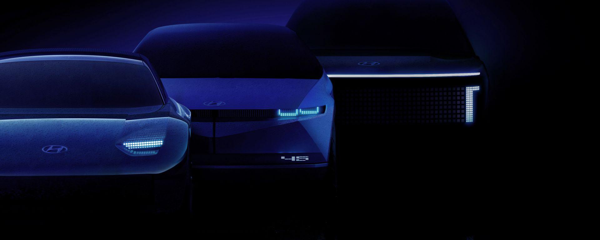 Ioniq 5, 6 e 7: un SUV di medie dimensioni, una berlina e un SUV grande, entro il 2024
