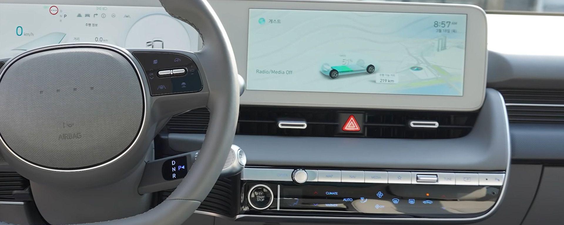 Ioniq 5: gli interni del crossover elettrico del sub-brand Hyundai - dal video di Asian Petrolhead
