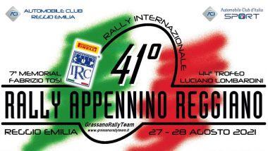 IRC 2021: la locandina del 41esimo Rally Appennino Reggiano