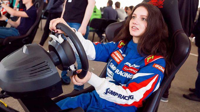 Irina Sidorkova al simulatore