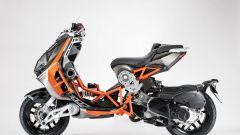 Italjet Dragster: visuale laterale in arancione