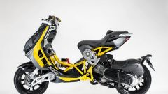 Italjet Dragster: visuale laterale in giallo