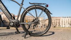 Italwin Trail Ultra: portapacchi e ruota posteriore