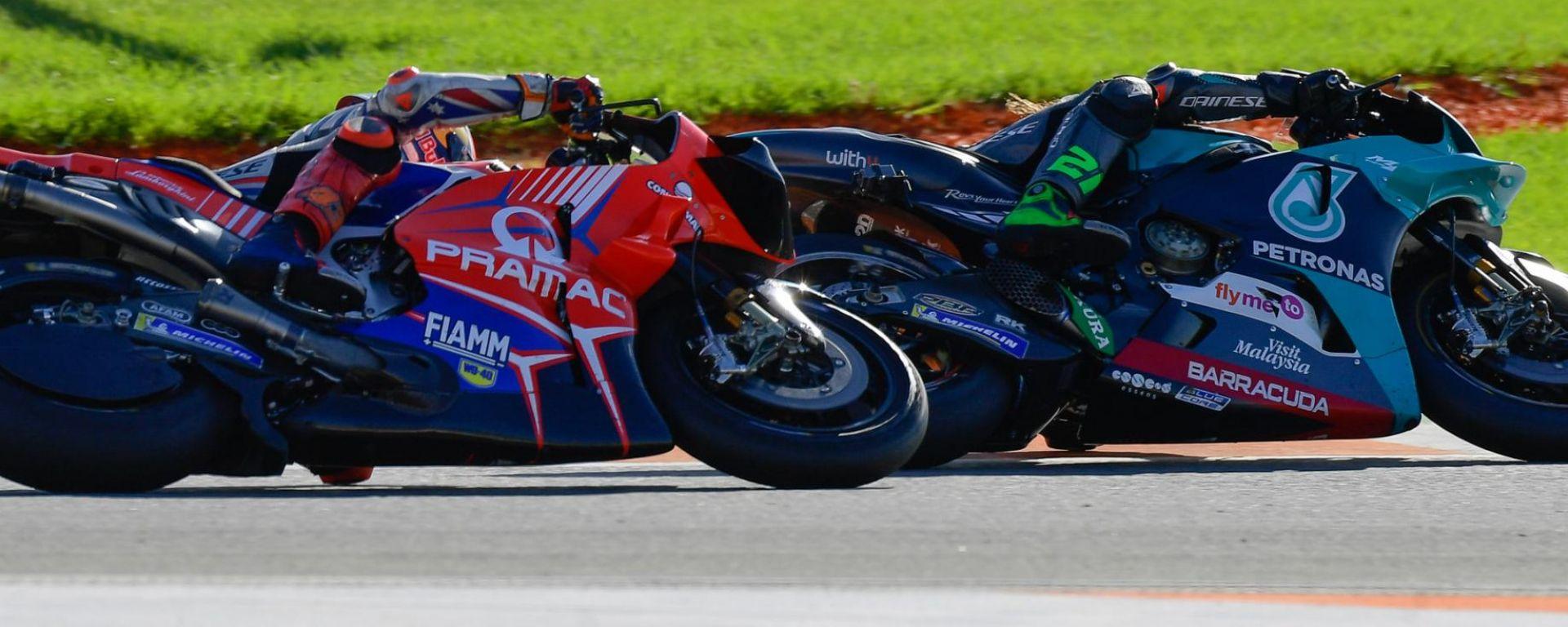 Jack Miller (Ducati Pramac) e Franco Morbidelli (Yamaha Petronas)