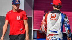 Jack Miller e Francesco Bagnaia ai test di Sepang con il team Ducati Pramac