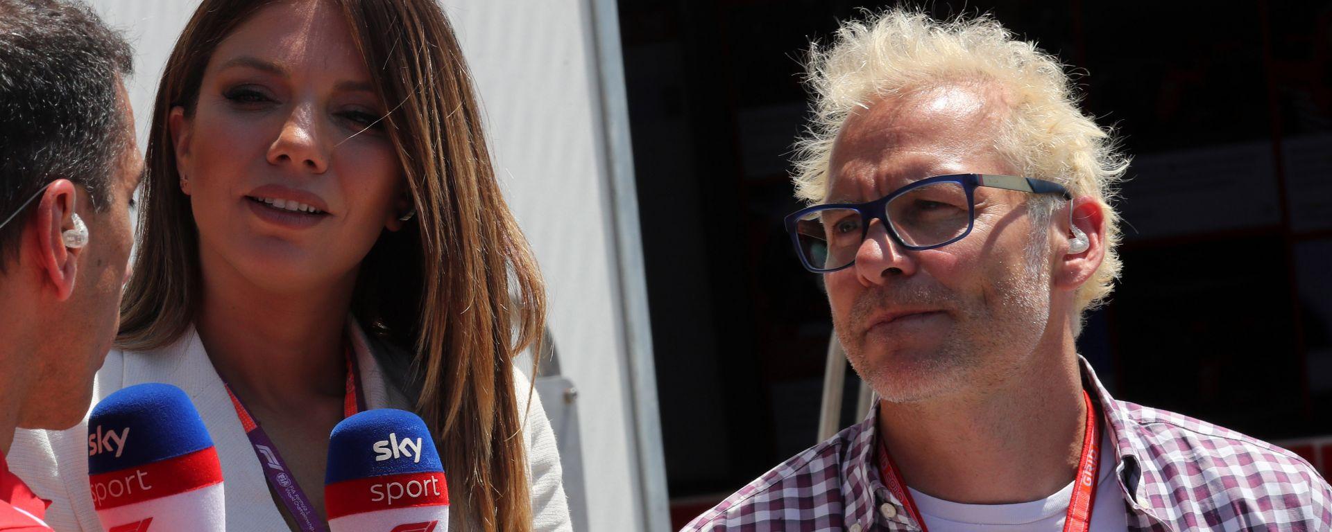 Jacques Villeneuve con Federica Masolin e Marc Gene di Sky Sport F1 HD