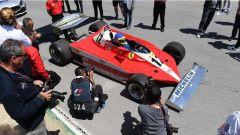 Jacques Villeneuve sulla Ferrari del padre Gilles