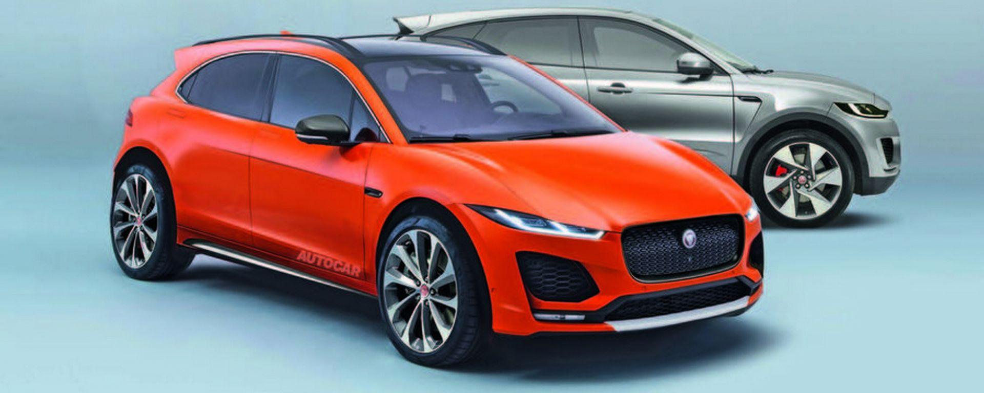 Jaguar A-Pace e B-Pace, i render di futuri mini-Suv by JLR