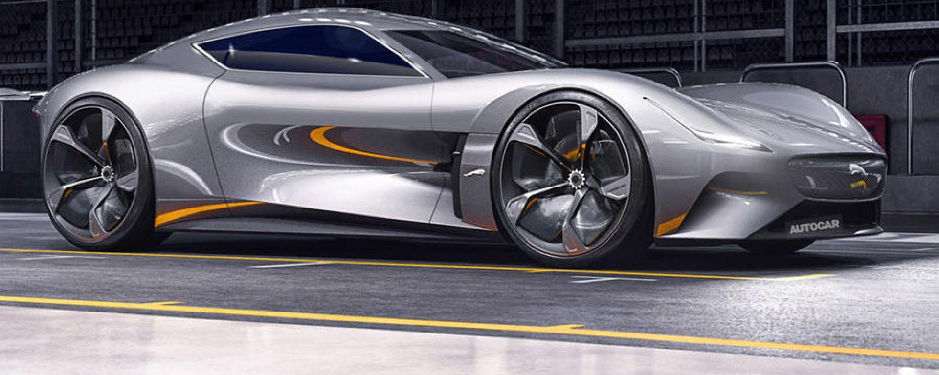 Jaguar EV-Type: a quando la supercar elettrica? Il render