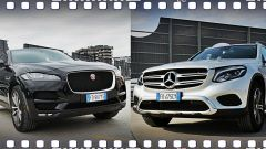 Jaguar F-Pace vs Mercedes GLC. Guarda il video