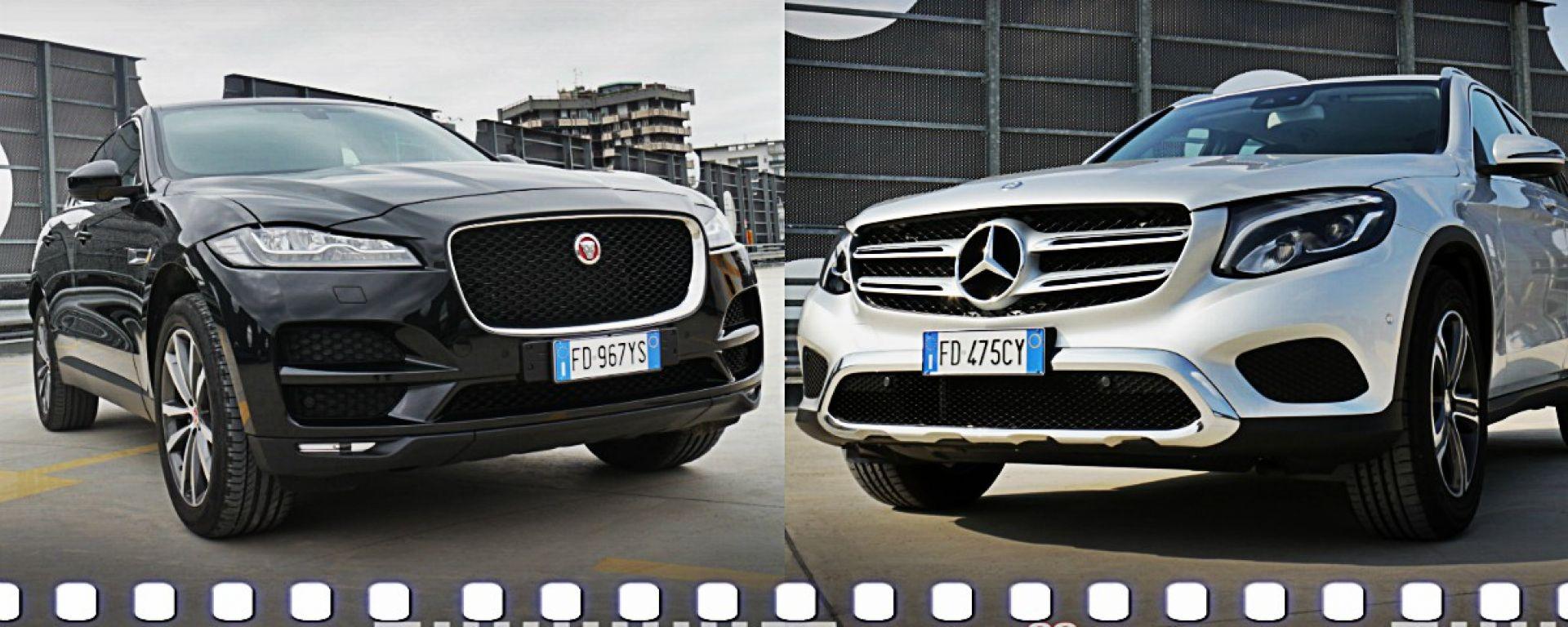 Jaguar F-Pace vs Mercedes GLC. Guarda il video